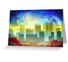 Minimalist, abstract colorful Urban design Greeting Card