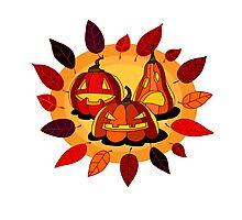 Happy Halloween. Jack-o'-lanterns. Photographic Print