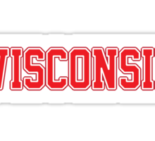 Wisconsin Jersey Red Sticker