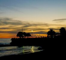 Sunset in Montevideo Coast by DFLC Prints