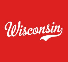 Wisconsin Script White by USAswagg2