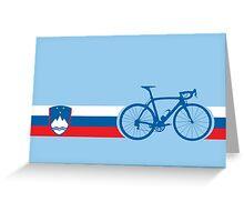 Bike Stripes Slovenia Greeting Card