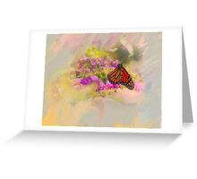 Monarch Butterfly On Butterfly Bush Greeting Card