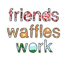 Friends, Waffles, Work by lspiroo