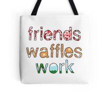 Friends, Waffles, Work Tote Bag