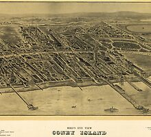 Vintage Pictorial Map of Coney Island (1906) by BravuraMedia