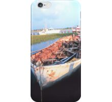 Aged Row Boat iPhone Case/Skin