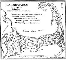 Vintage Map of Cape Cod (1890)  by BravuraMedia