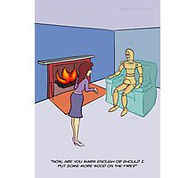 Fire Panic Photographic Print