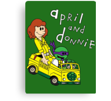 April and Donnie Canvas Print