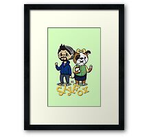 Creature Crossing- SlyFoxHound Framed Print
