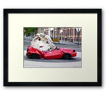 Still Life With Stone And Car Framed Print