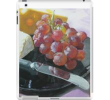 Grapes, Cheese, and knife still life iPad Case/Skin