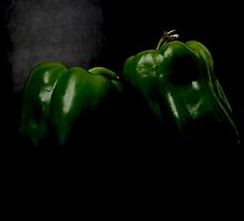 Two Peppers by Alan Harman