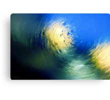 Condensation 34 - Vortex | Cyan Canvas Print