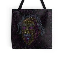 Acid Scientist tongue out psychedelic art poster Tote Bag