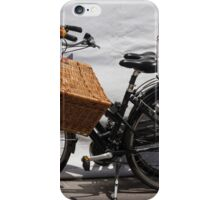 bicycle whit baskets iPhone Case/Skin