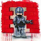 Robocop Lego Style by Deborah Cauchi