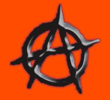 ANARCHY; symbol in red and black by TOM HILL - Designer