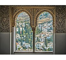 Nasrid View - The Alhambra - Granada - Spain Photographic Print