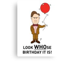 A Doctor Who themed Birthday Card Canvas Print