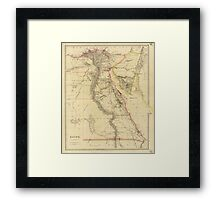 Vintage Map of Egypt (1832)  Framed Print