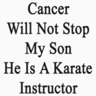 Cancer Will Not Stop My Son He Is A Karate Instructor  by supernova23