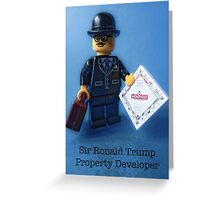 Sir Ronald Trump- Property Developer Greeting Card