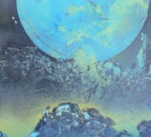Spray Paint Art- Two Moons Sticker