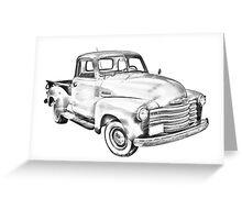 1947 Chevrolet Thriftmaster Pickup Illustration Greeting Card