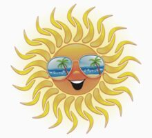 Summer Sun Cartoon with Sunglasses Kids Clothes