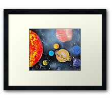 Spray Paint Art- Solar System Framed Print
