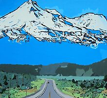 Abstract Painting Mt Everest by Annika Thurgood