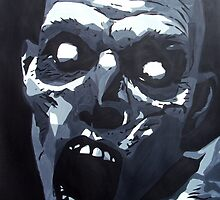 Hungry Zombie- Abstract Zombie Painting by Annika Thurgood