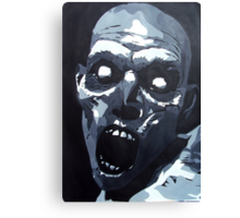 Hungry Zombie- Abstract Zombie Painting Canvas Print