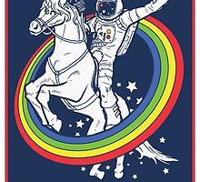 Party Astronaut Riding Unicorn by changetheworld