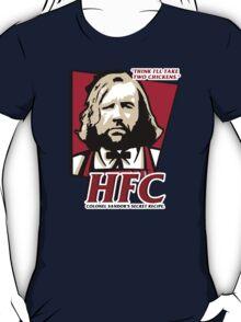 Colonel Sandor: The hound fried chicken (HFC) - Kentucky parody.  T-Shirt