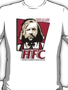 Colonel Sandor: The hound fried chicken (HFC) - Kentucky parody.  T-Shirt