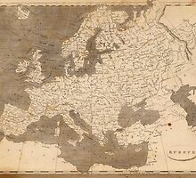 Vintage Map of Europe (1804)  by BravuraMedia