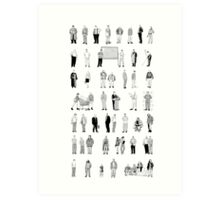 52 Characters From The Wire Art Print