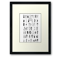 52 Characters From The Wire Framed Print