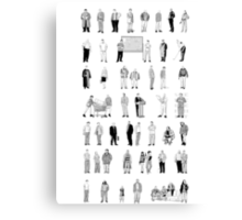 52 Characters From The Wire Canvas Print