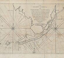 Vintage Map of The Florida Keys (1771) (2) by BravuraMedia