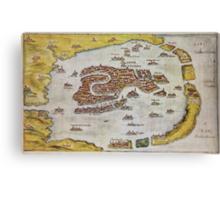 Vintage Map of Venice (1649)  Canvas Print