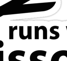 Runs With Scissors Sticker