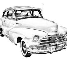 1948 Chevrolet Fleetmaster Antique Car Illustration by KWJphotoart