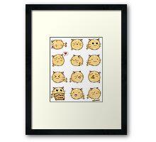 Fuzzballs Kawaii Cat! Framed Print