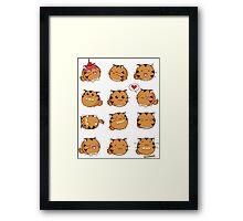 Fuzzballs Kawaii Tiger Framed Print