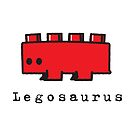Red Legosaurus by SevenHundred