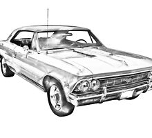 1966 Chevy Chevelle SS 396 Illustration by KWJphotoart